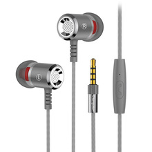 Super Bass in ear earphone Remote Control with Mic  Earbud Earphones Stereo 3.5mm Jack for Mobile phone PC Mp3