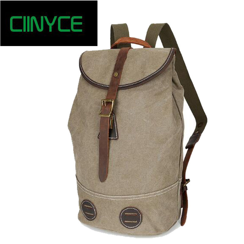 2018 New Brand fashion men women Cowhide back pack vintage canvas Preppy school bag men's trave large capacity Casual backpacks fashion backpacks for men and women solid preppy style soft back pack unisex school bags big capicity canvas bag gw082