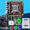 HUANAN ZHI deluxe X79 LGA2011 игровая материнская плата со скидкой  материнская плата с M.2 слотом CPU Xeon E5 2660 V2 RAM 16G (2*8G)