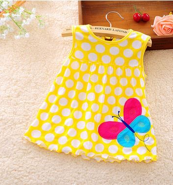 2017-other-new-baby-cute-girl-wearing-a-sleeveless-dress-to-wear-casual-clothing-cotton-100-conventional-micro-Princess-0-24-mo-2