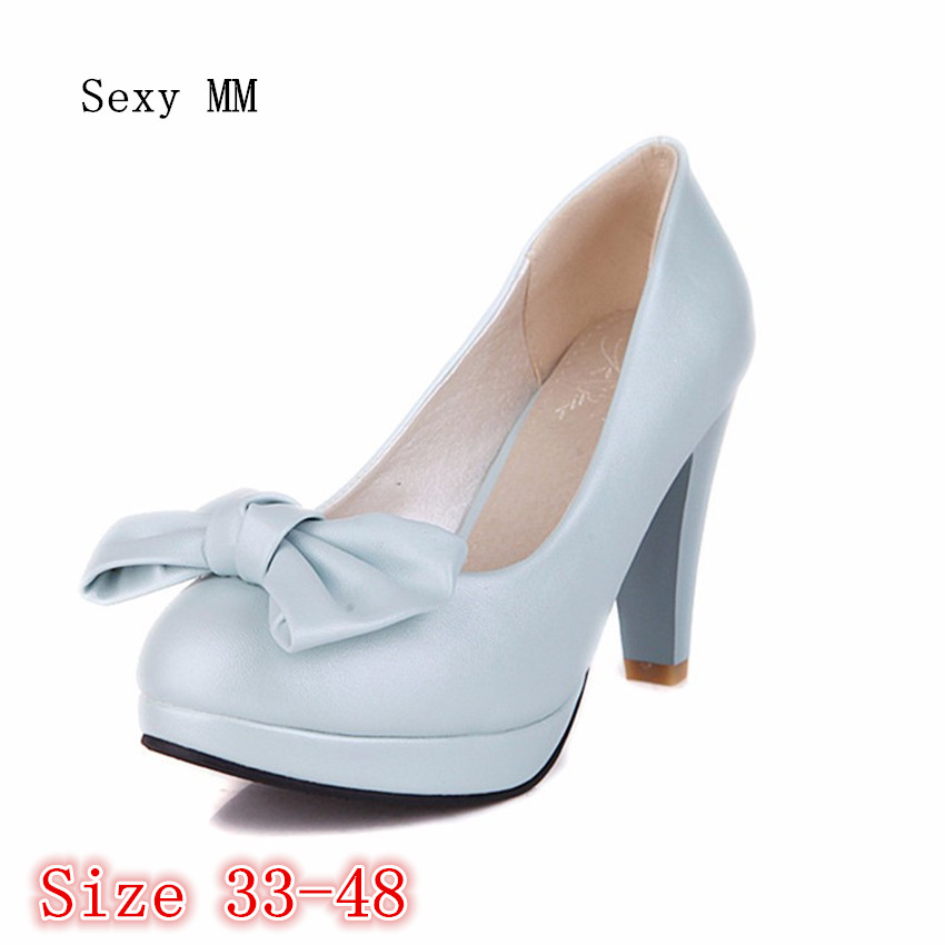 Ladies Pumps Women High Heel Wedding Shoes Woman Thin High Heels Stiletto Kitten Heels Plus Size