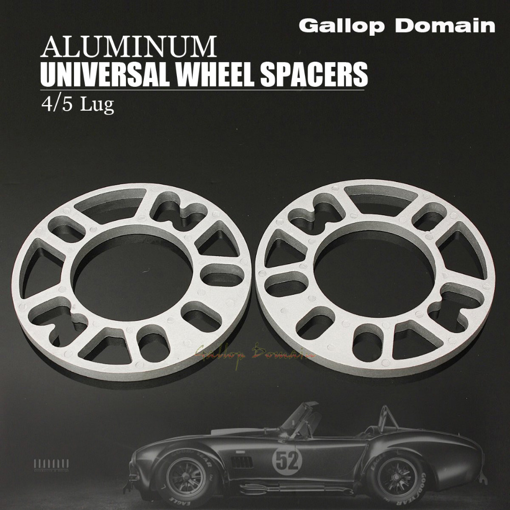 2PCS 10 MM ALLOY ALUMINUM WHEEL SPACERS SHIMS PLATE 4&5 STUD FIT FOR VW FREE SHIPPING Car-Styling