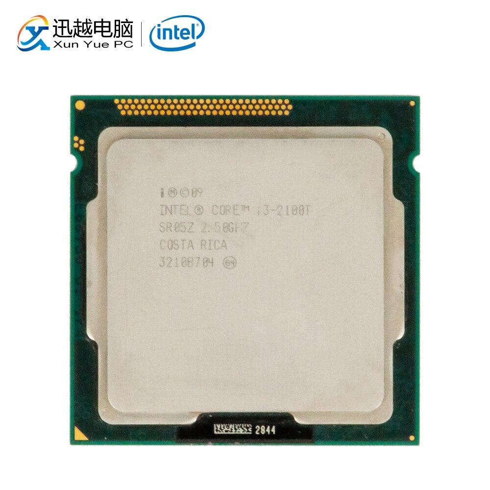 Processeur d'ordinateur de bureau Intel Core i3-2100T i3 2100 T double cœur 2.5 GHz 3 mo L3 Cache LGA 1155 serveur utilisé CPU