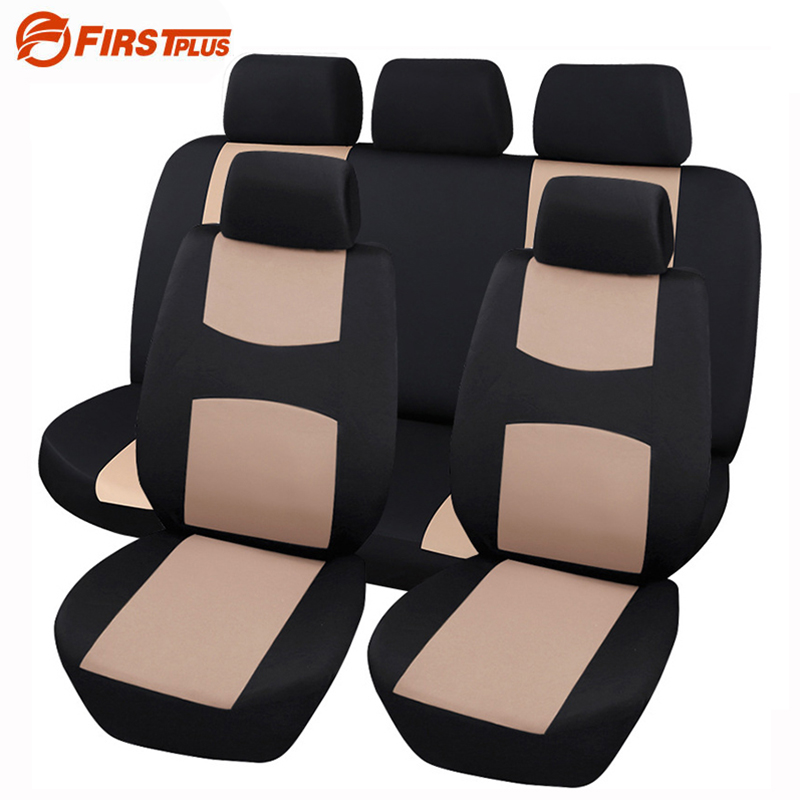 Car Styling Elastic Polyester Car Seat Covers Front Back