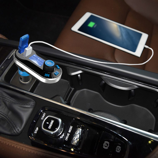 Nulaxy Bluetooth FM Transmitter Car MP3 Player With Remote Control Support Flash Drive USB Car Charger Hands-free FM Modulator