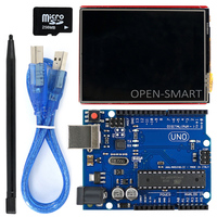2 8 Inch TFT LCD Shield UNO R3 Board With TF Card Touch Pen USB Cable