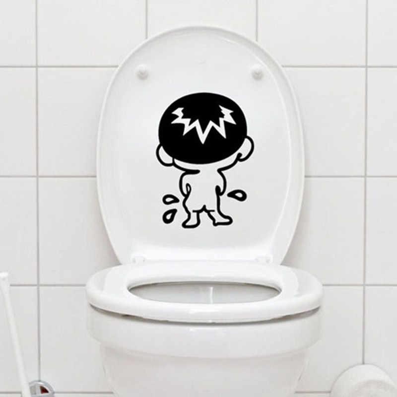 Tampa do vaso sanitário do banheiro adesivo de parede adesivos decoração para casa removível decalques de parede para toalete adesivos decorativos pasta para casa