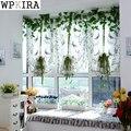 Пасторальные тюлевые шторы с бабочками  римские шторы с вышивкой для кухни  гостиной  спальни  просеки на окна 242 & 40