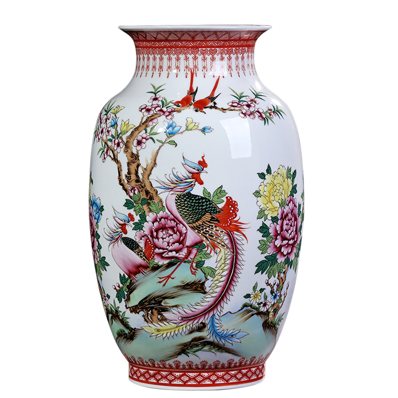 225 & US $476.0 50% OFF|Collection Jingdezhen Ceramic Master Handpainted Phoenix Fine Porcelain Decorative Flower Vase-in Vases from Home \u0026 Garden on ...