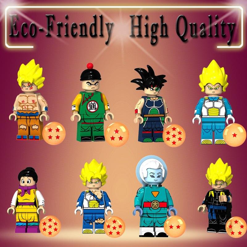 Single Dragon Ball Z Cartoon Series Figure Crane Immortal Vegeta Goku Chichi Building Blocks Bricks Toys For Children Gifts