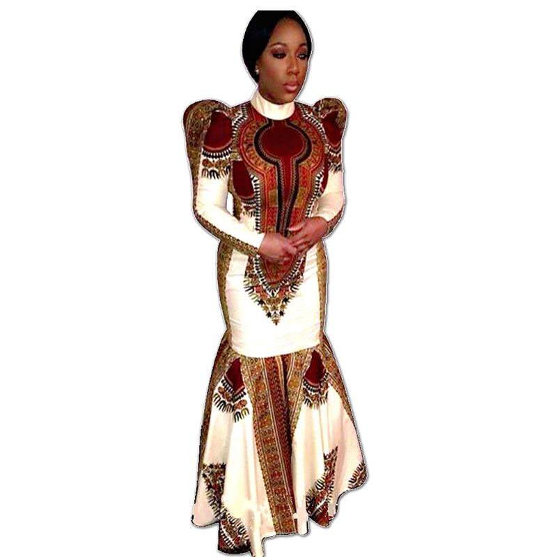 Custom African Traditional Women Clothing Long Sleeve Maxi ...