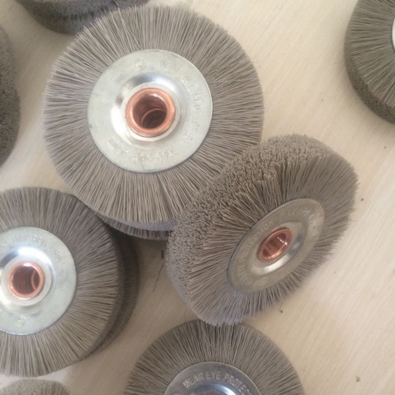 2 Pieces Polishing Brush Abrasive Wire Grinding Flower Head Grinding Tool Accessories Escova De Polimento