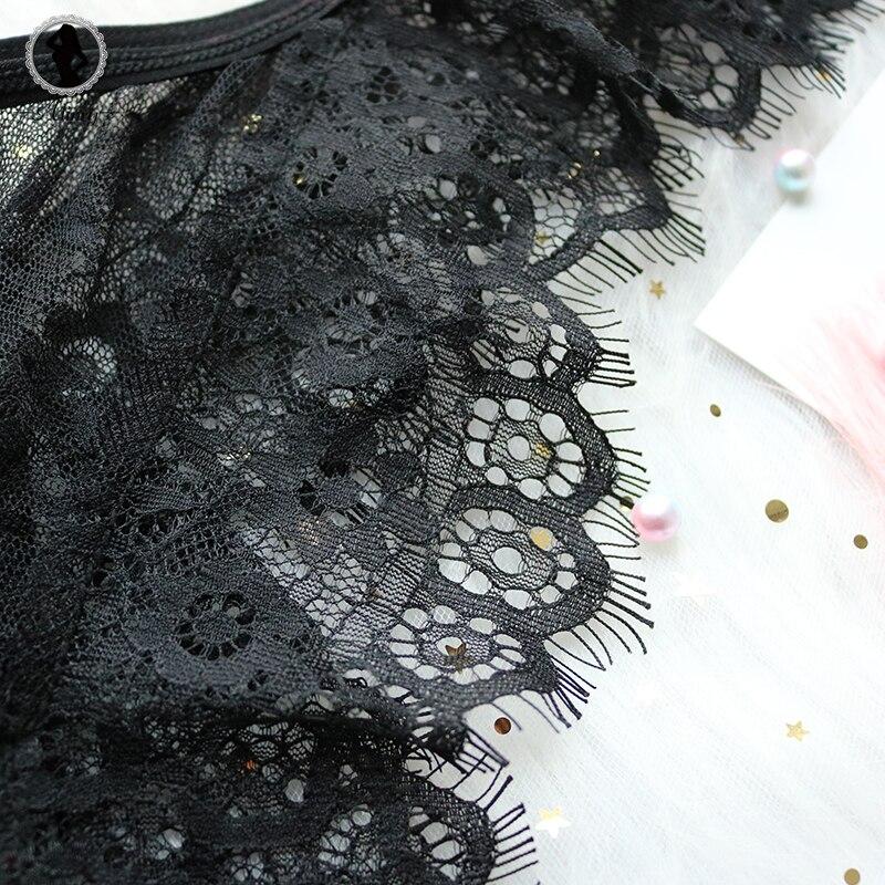 HTB1kfizfMKTBuNkSne1q6yJoXXaj - Lace Mesh Bra & Pantie Set Transparent Bralette Push Up