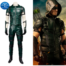 2016 Green Arrow Season 4 Cosplay Costume Updated Version Arrow Outfit Adult Halloween Cosplay Costume For Men  цена и фото