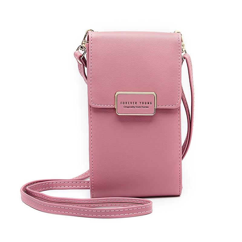 Forever Young Bag for Phone Female Wallet Large Women Purse Long Leather Coin Card Holder Zipper Pocket Shoulder Bag Girls Belt bag