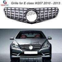 W207 GT Grill Front Bumper Grille Mesh for Mercedes E W207 Coupe Convertible 2010 2013 E300 E350 pre facelift Silver Grill