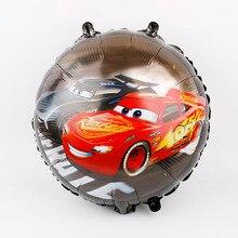 Yarış araba folyo balonlar 50 adet 18 inç araba düğün doğum günü partisi süslemeleri çocuklar hediyeler malzemeleri erkek çocuk oyuncakları arabalar topu toptan