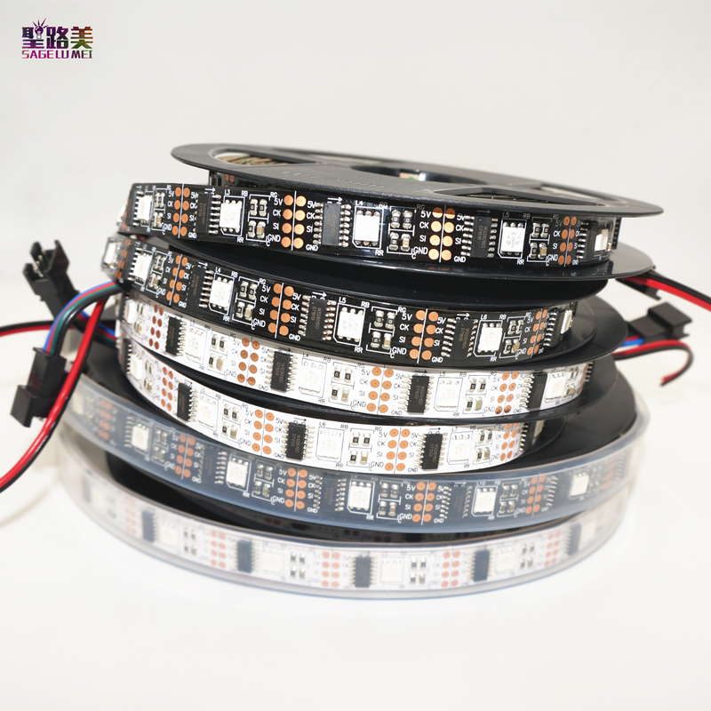 5m/roll DC5V addressable ws2801 led strip ribbon tape Arduino development ambilight TV 32leds/m SMD5050 RGB magic dream color