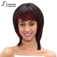 Joedir毛ブラジルのremy毛ストレートショート人間の髪黒人女