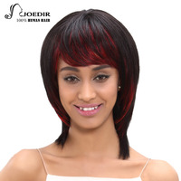 Joedir Hair Brazilian Remy Hair Straight Short Human Hair Bob Wigs For Women Color HL1B RED