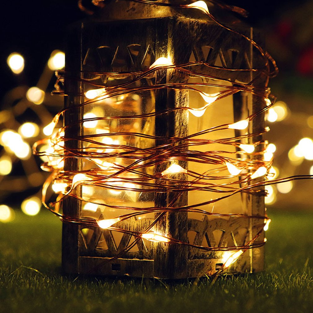 100 LEDs 3*AA Battery Micro Rice Sliver Wire Fairy String Lights Party Outdoor White/RGB Fairy String Lights