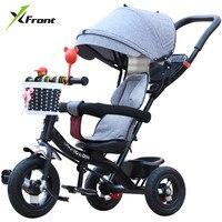 חדש מותג ילד תלת אופן באיכות גבוהה מסתובב מושב ילד תלת אופן אופניים בייבי באגי עגלת BMX תינוק מכונית אופניים