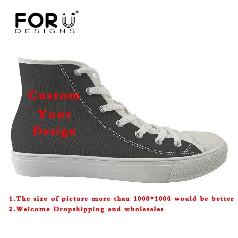 FORUDESIGNS Custom תמונות או לוגו גברים של לגפר נעלי גבר מזדמן גבוה למעלה בד נעלי סטודנטים ילד נוח דירות סניקרס