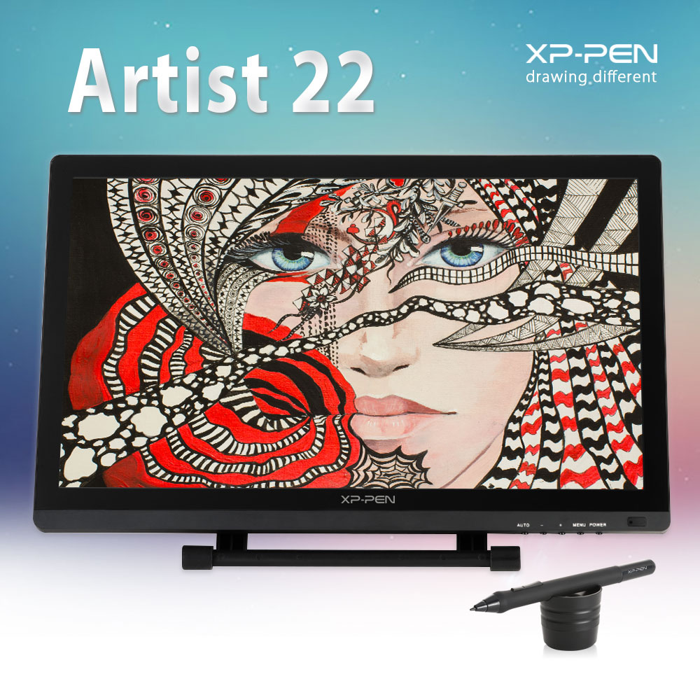 XP-Pen 21.5 HD IPS Graphic Tablet Interactive Monitor Full View Angle Extended Mode Display for Apple Macbook supporting HDMI xp pen artist22e fhd ips pen display monitor graphics drawing tablet with 16 express keys