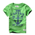 2Y-6Y NEW Ocean estilo Bebé Ropa de Los Muchachos camisetas de Los Niños adolescentes camisetas Verano de Los Muchachos Niños de Manga Corta Camisetas el captaln