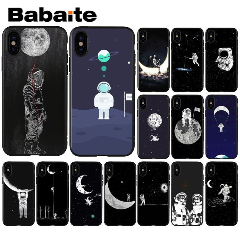 Cellphones & Telecommunications Obliging Babaite Funny Space Love Moon Astronaut Black Soft Phone Cover For Apple Iphone 8 7 6 6s Plus X Xs Max 5 5s Se Xr Mobile Cases