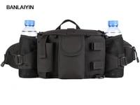 New Men Nylon Waterproof Military Travel High Capacity Water Bottle Shoulder Messenger Fanny Waist Pack Bag