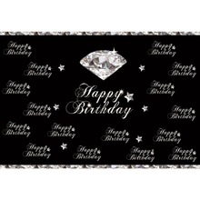 цена на Laeacco Diamond Stars Baby Happy Birthday Party Portrait Photography Backdrop Photographic Background Photocall For Photo Studio