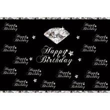 Laeacco Diamond Stars Baby Happy Birthday Party Portrait Photography Backdrop Photographic Background Photocall For Photo Studio
