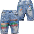 3928 SOFT cool  boys  denim  shorts  casual  pants  summer jeans  capris shorts half-length  70% kids jeans children's shorts
