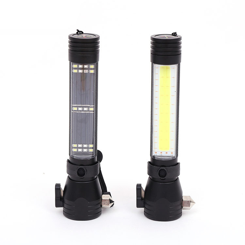 LED Multi-functional Car Emergency Flashlight Safety Escape Hammer USB Rechargeable Torch Light Waterproof Portable Lantern high power led searchlight lantern built in battery handheld portable flashlight torch rechargeable waterproof hunting lamps