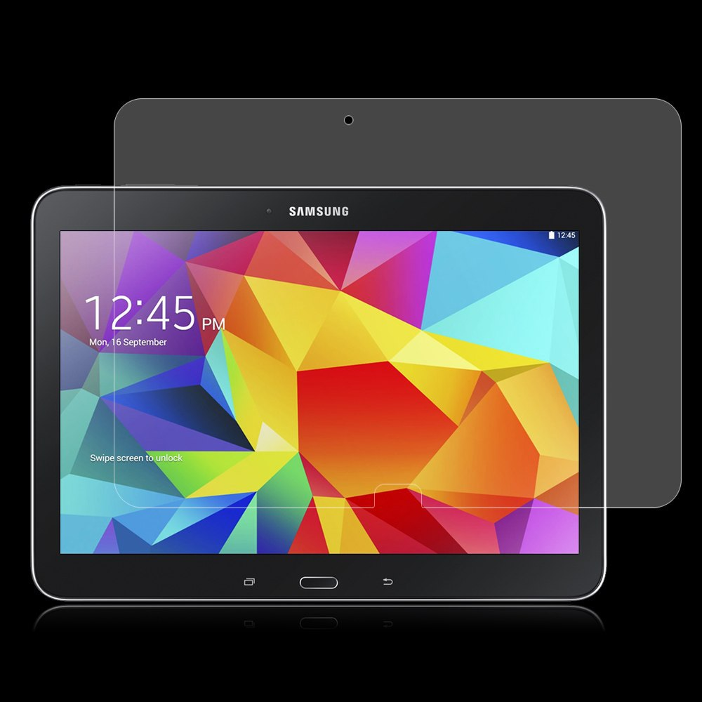 2 st 9H Tempered Glass Screen Protector Film för Samsung Galaxy Tab 4 Tab4 10.1 T530 T531 T535 (Tab4 SM-T530) + Alkoholduk