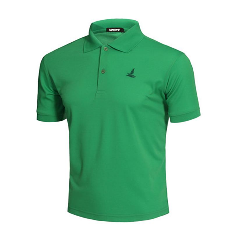 KOSMO MASA Cotton Black Polo Shirt Mens Short Sleeve 2018 Summer Casual Solid Male Polo Shirts Dry Slim Fit Polos for Men MP0001 in Polo from Men 39 s Clothing