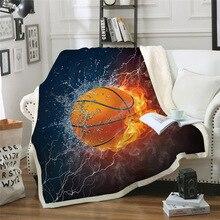 Sofa cushion Yoga mat Blanket Air Conditioner Thick Double-layer Plush 3D Digital Printed Basketball Series