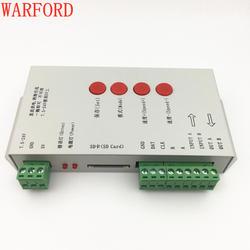T1000S SD карты WS2801 WS2811 WS2812B LPD6803 светодио дный 2048 контроллер пикселей DC5 ~ 24 V T-1000S контроллер RGB