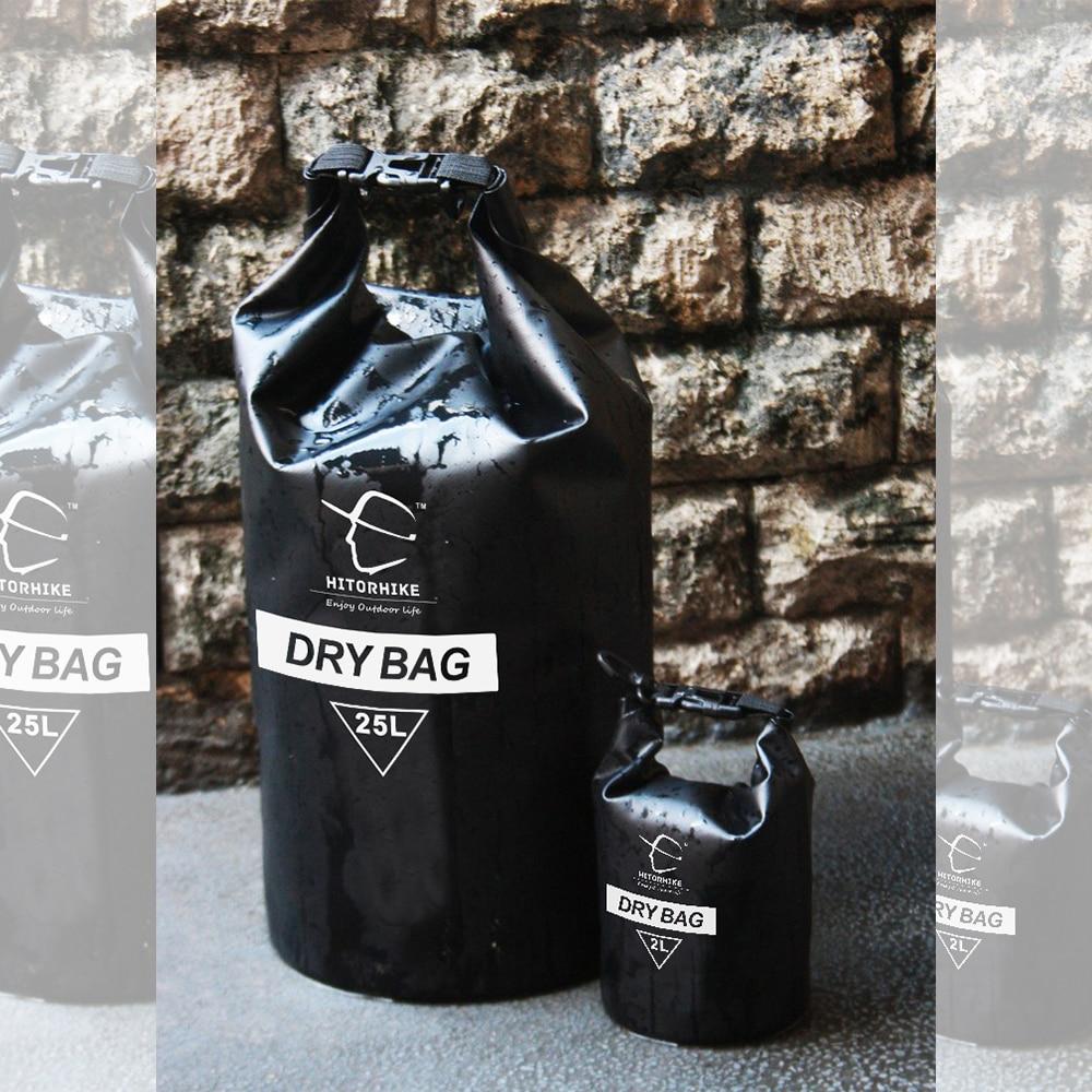 HITORHIKE 25L वाटरप्रूफ ड्राई बैग आउटडोर स्विमिंग कैम्पिंग राफ्टिंग स्टोरेज बैग के साथ एडजस्टेबल स्ट्रैप्स 5 कलर्स