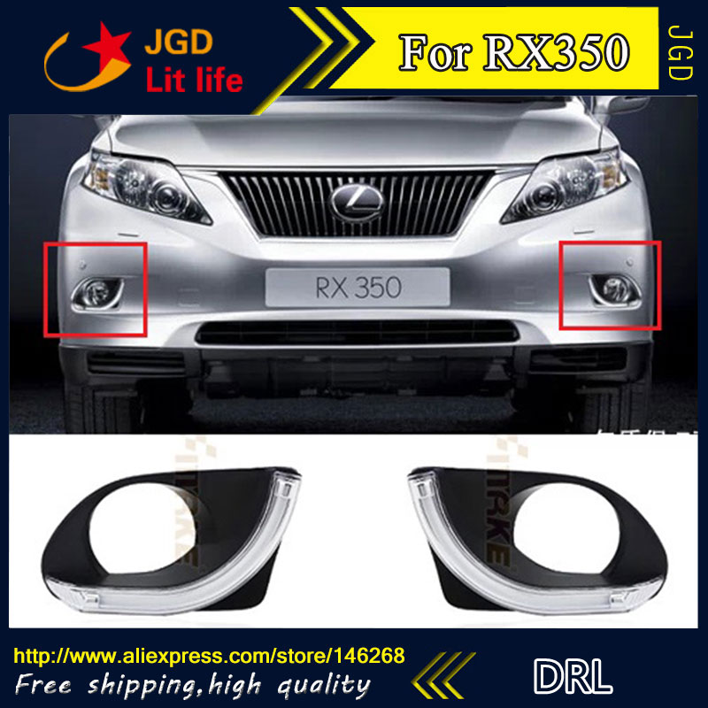 Free shipping ! 12V 6000k LED DRL Daytime running light for Lexus RX350 2009-2011 fog lamp frame Fog light Car styling for lexus rx gyl1 ggl15 agl10 450h awd 350 awd 2008 2013 car styling led fog lights high brightness fog lamps 1set
