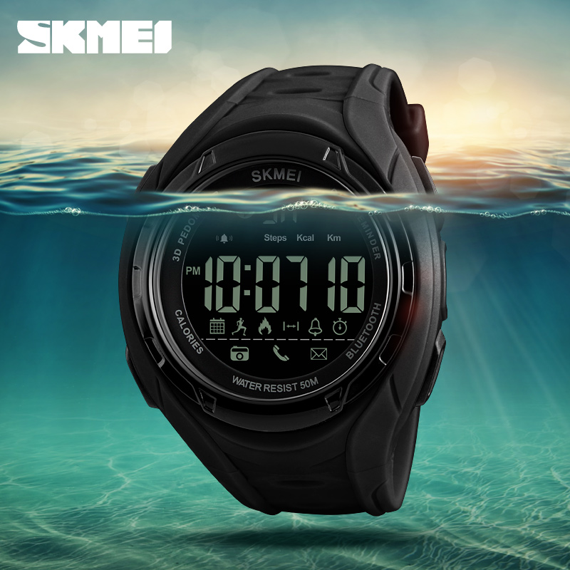 SKMEI Bluetooth Smart Watch Pedometer Kalorier Outdoor Sports Klockor - Herrklockor