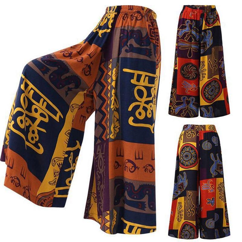 2019 Autumn   Wide     Leg     Pants   Loose Print Casual Trousers Streetwear Women Hot New Trousers Long   Pants   For Women Plus Size Trousers