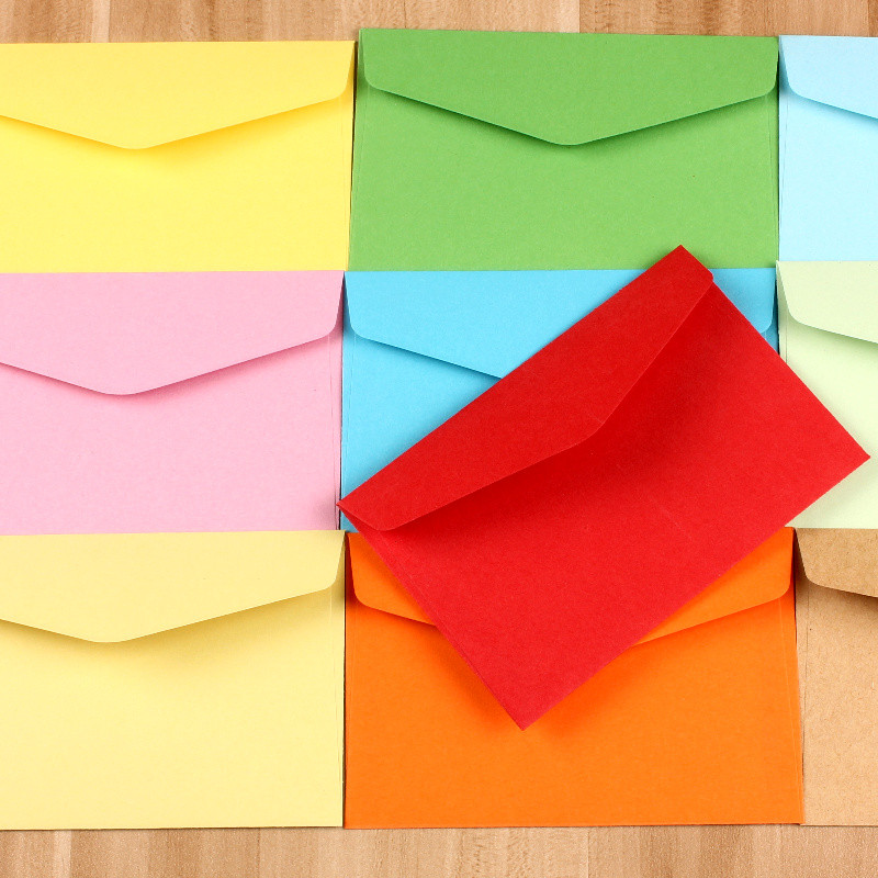 50pcslot 107cm colorful mini kraft envelope business vip card 50pcslot 107cm colorful mini kraft envelope business vip card small paper envelopes wedding party invitation card in cards invitations from home reheart Image collections