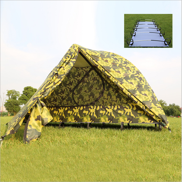 Backpack Tent Cot Ultralight 4 Seaon Double Layer Tent With Sleeping Cot Compact Folding Bed With & Backpack Tent Cot Ultralight 4 Seaon Double Layer Tent With ...