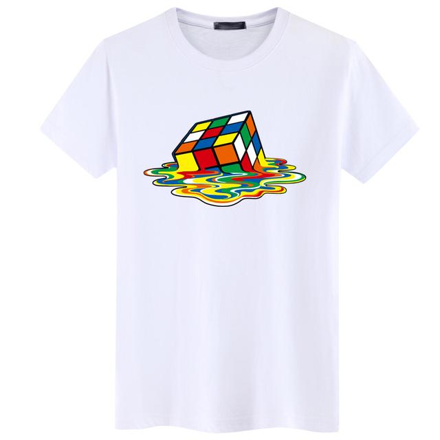 Colorful Rubik Cube Cotton Unisex T-Shirt