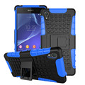 For Sony Xperia Z2 Phone Case Dual Layer Kickstand Heavy Duty Armor Shockproof Hybrid Hard Silicone Rubber Back Case for Sony Z2