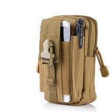 outdoor sports molle tactical pockets male waterproof phone bags wear belt running bag
