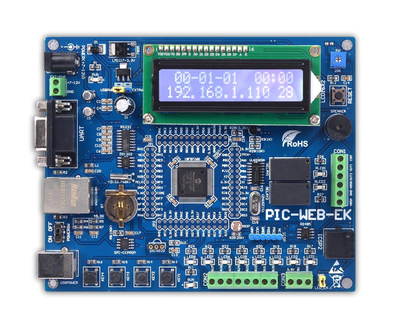 цена PIC MCU Learning Development Board Ethernet PIC-WEB-EK PIC18F97J60