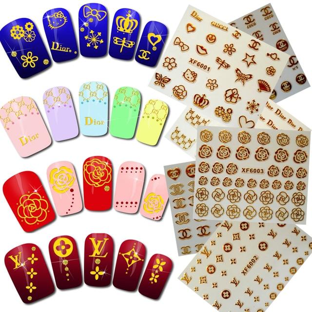 3D стикер для ногтей, наклейка на заднюю панель, роскошный дизайн, все для маникюра, логотип, наклейка, Брендовое украшение для ногтей, аксессуары для ногтей